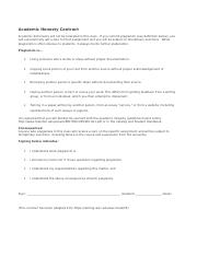 Academic Honesty Contract