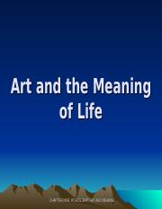 9. Art and Meaning of Life