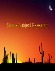 Single_Subject_Research