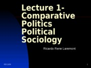 Lecture 1- Definition and Methodology