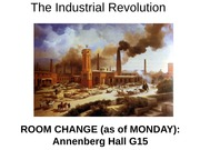 Lecture Slides on Industrial Revolution