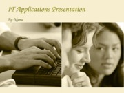 IT Applications Presentations