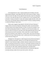 COLL148 Week 2 Time Management Assignment.docx