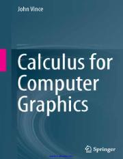 calculus-for-computer-graphics