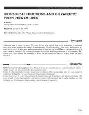 BIOLOGICAL-FUNCTIONS-ANO-THERAPEUTIC-PROPERTIES-OF-UREA