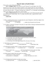 Test2_Spring2018_EarthScience.docx