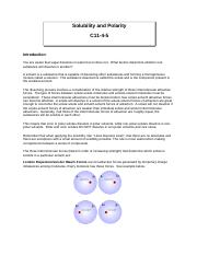 Solubility and Polarity C11-4-5.doc
