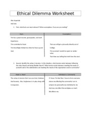 ethical dilemma worksheet University of phoenix material ethical dilemma worksheet incident review 1 what is the ethical issue or problem identify the issue succinctly the fact.