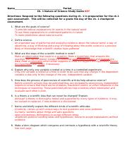ch. 1 Nature of Science Study Guide KEY.docx