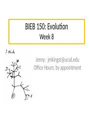 BIEB 150 Section, Week 8 Email