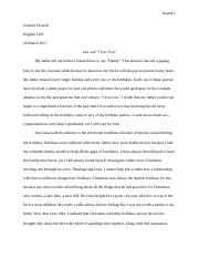 Essay Just one I love You - Jennifer Howell.docx