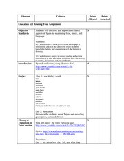 Spain_Tour Project_Lesson Plan