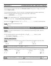 antiderivatives and indefinite integrals pdf