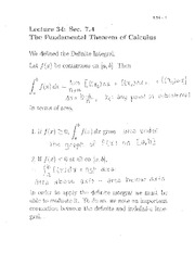 Lecture 34- Fundamental theorem of calculus