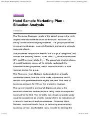 Hotel Sample Marketing Plan - Situation Analysis.pdf