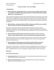 Homework Guide 5- Race and Children .docx