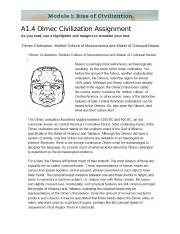 A1.5 Olmec Civilization Assignment.docx