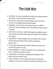 Notes on The Cold War