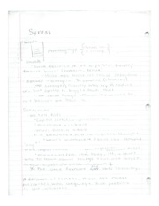 Notes syntax