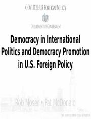 Module 18, Democracy Promotion in USFP, SU17