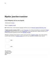 Bipolar junction transistor - Wikipedia, the free encyclopedia