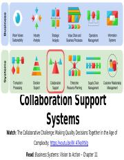 11 Collaboration Support Systems