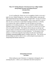 Unit 4: College Student Writing Manual
