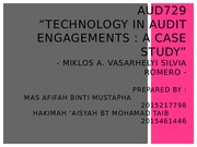 AUD729 Technology in audit engagements a case study