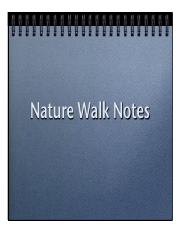 Nature Walk Notes pdf (updated)