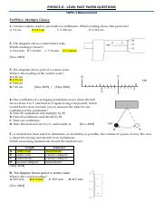 past papers solved-o-Level-Worksheets-PHYSICS
