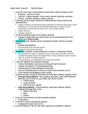 Exam 3 Study Guide Fall 14