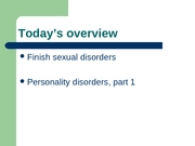 L19 - personality disorders, part 1r