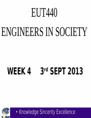 EUT440 LECT WK 5 SEM I 2013-2014 HIRARC & SAFETY CULTURE
