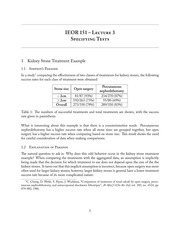 IEOR 151 - Lecture 3, Specifying Tests - Fall 2013