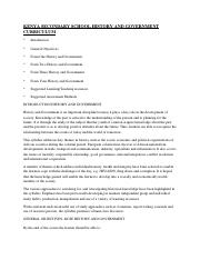HISTORY FORM THREE NOTES - FORM THREE HISTORY AND GOVERNMENT