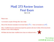 MatE 273 - Final Exam Review - Session 1(1)