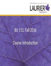 1 - Course introduction 2016
