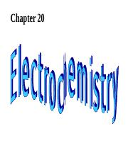 Baigiang- Chemistry The Central Science- ch20