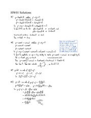 HW01 Solutions- Intro to First Order Differential Equations