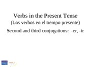 0131589318_The present tense of regular -er and -ir verbs