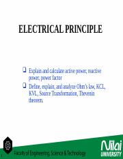 LECTURE 8-1 AC Power