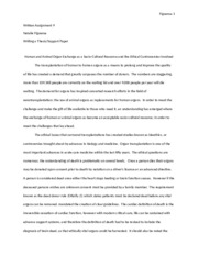 Written Assignment 9 Writing a Thesis Support Paper