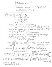 Tutorial 06 - Gauss Law Notes