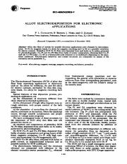 ALLOY ELECTRODEPOSITION FOR ELECTRONIC applications.pdf