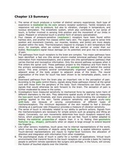 Psychology 214_Maier_Lecture Notes on Touch