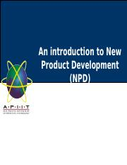 Lecture 01 and 02-Introduction to New Product Development.ppt