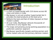 Final scm Ppt Big Bazaar