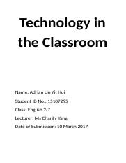 (Final) Technology in the Classroom.docx