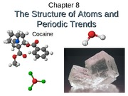 Chapter 8, structure of atoms and trends