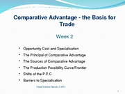 Enahoro Week 2 Comparative Advantage Trade 2013